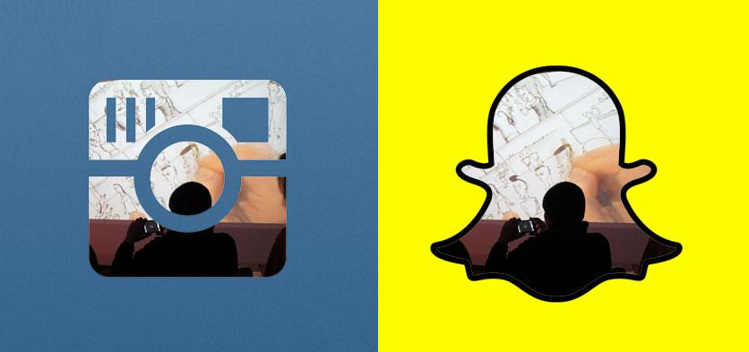 Instagram oder Snapchat
