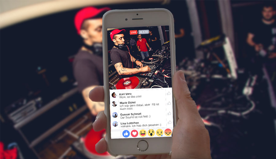 Facebook Live-Streaming Events
